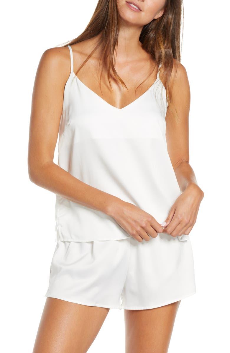 HOMEBODII Lola Short Pajamas, Main, color, WHITE