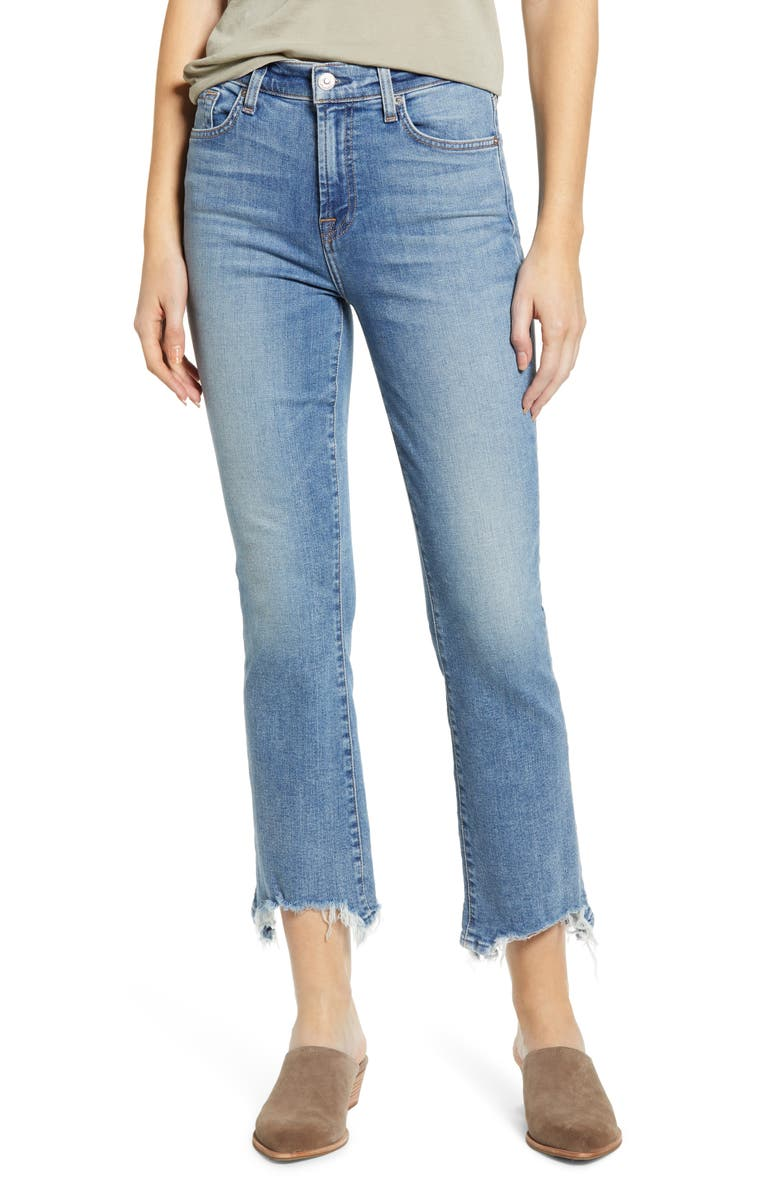 7 FOR ALL MANKIND<SUP>®</SUP> High Waist Slim Kick Jeans, Main, color, SLOANE VINTAGE 3