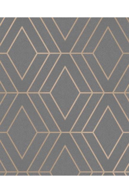 Image of WallPops! Adaline Taupe Geometric Wallpaper