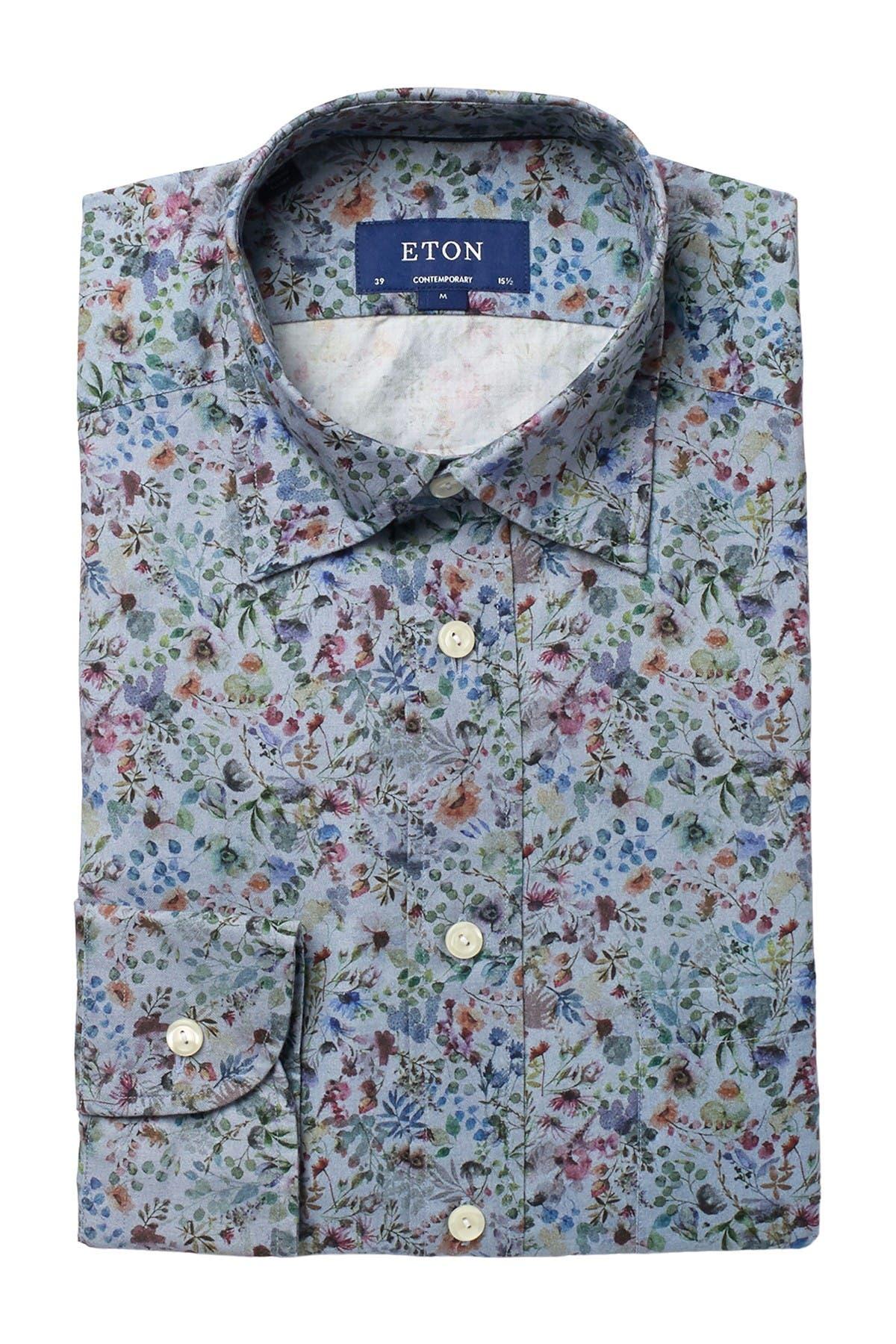 Eton Solid Twill Slim Fit Dress Shirt