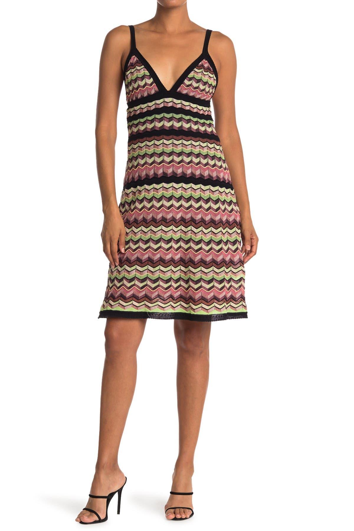 Image of M Missoni Chevron Striped Sleeveless Dress