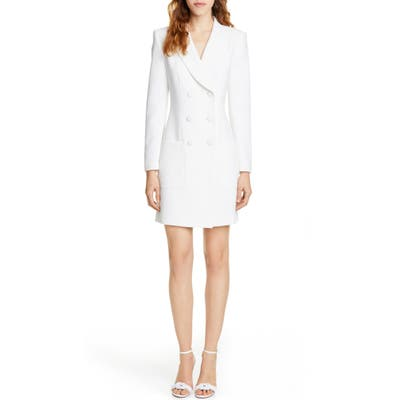 Judith & Charles Digital Double Breasted Blazer Dress, Ivory