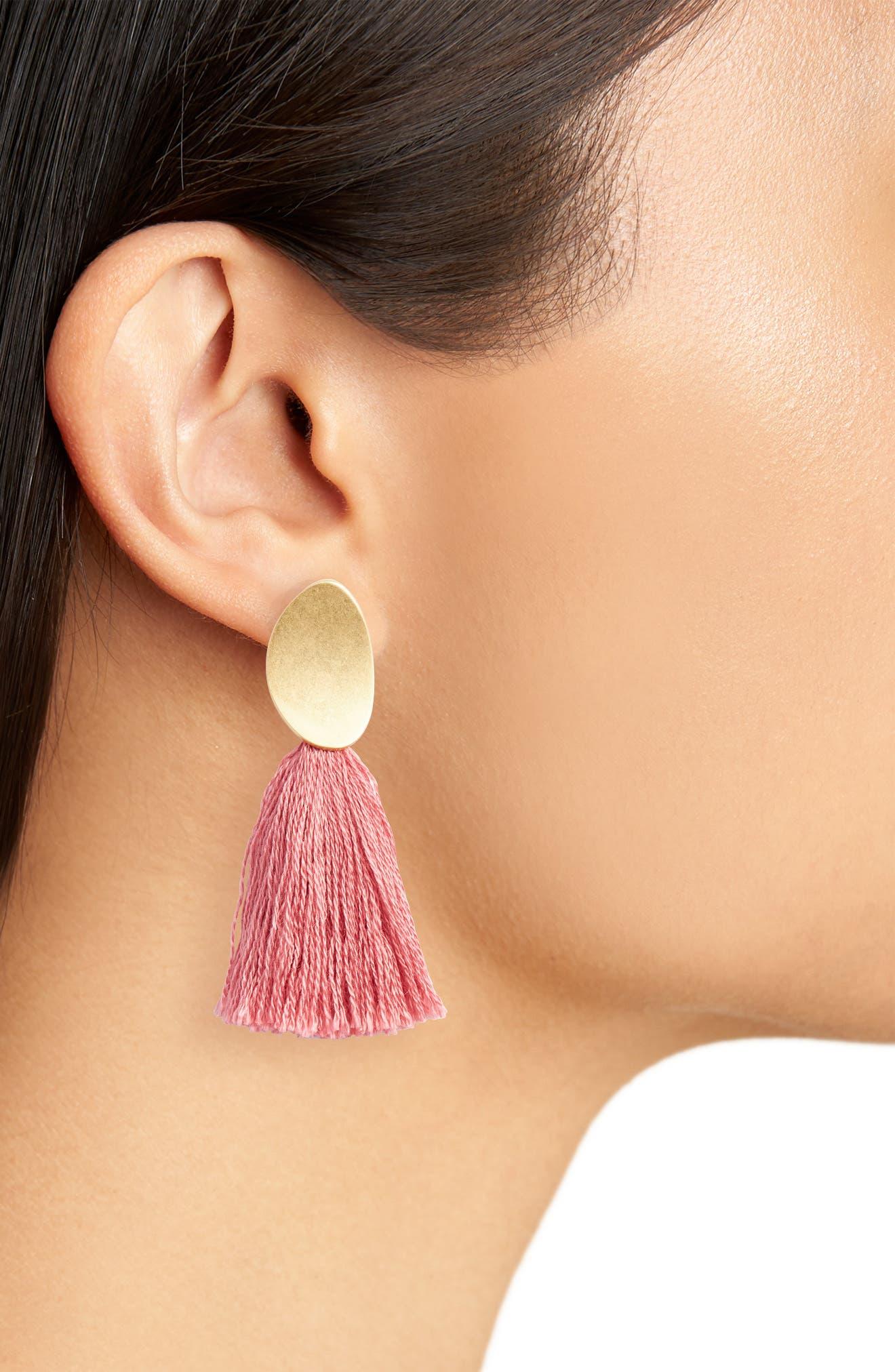,                             Curved Tassel Earrings,                             Alternate thumbnail 14, color,                             651