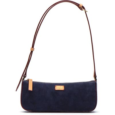 Frances Valentine Nubuck Baguette Bag - Blue