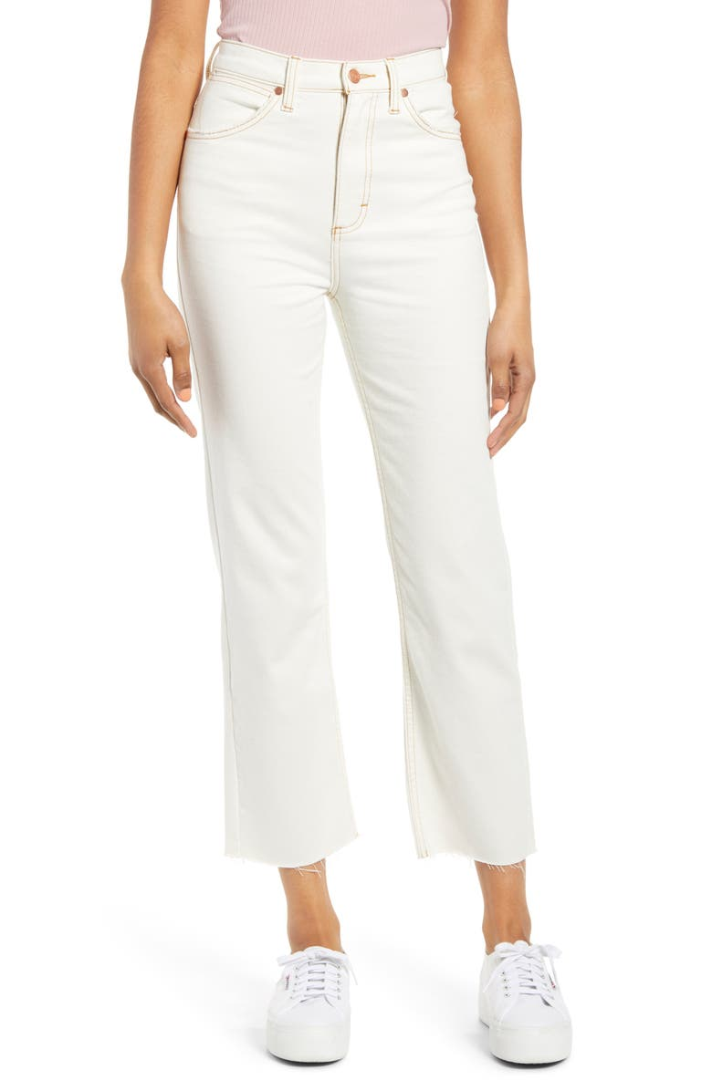 WRANGLER Heritage High Waist Ankle Jeans, Main, color, WHITE