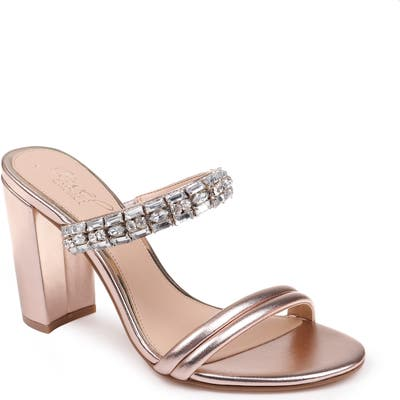 Jewel Badgley Mischka Katherine Embellished Sandal- Pink