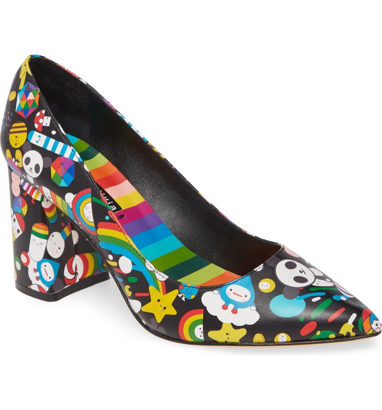 ALICE + OLIVIA x Friends With You Demetra Pump, Main, color, FRIENDS WITH YOU