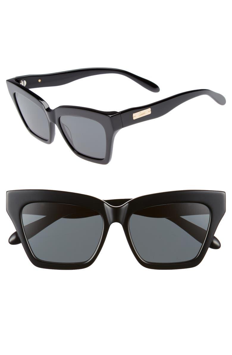 SONIX Half Half 54mm Cat Eye Sunglasses, Main, color, 001
