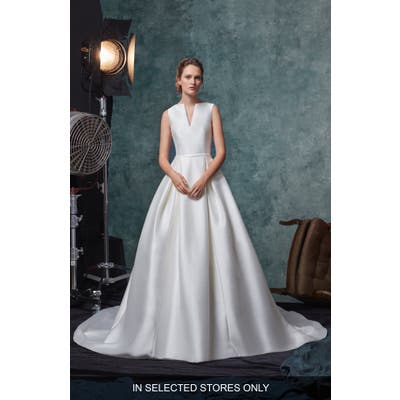 Sareh Nouri Blake Shantung Wedding Dress, Size - Ivory