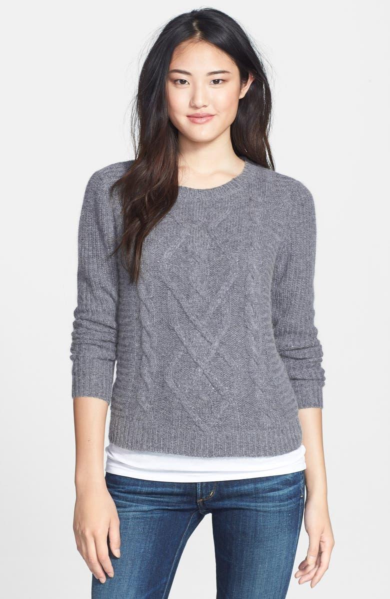 CASLON<SUP>®</SUP> Cable Knit Sweater, Main, color, 030