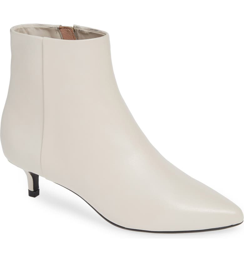 TARYN ROSE Nora Bootie, Main, color, CHALK LEATHER