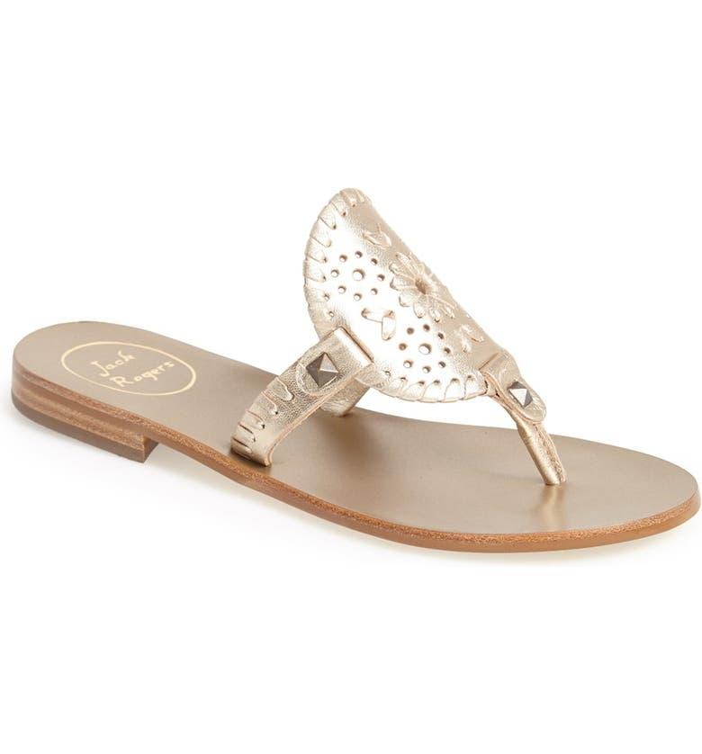 JACK ROGERS 'Georgica' Sandals, Main, color, PLATINUM
