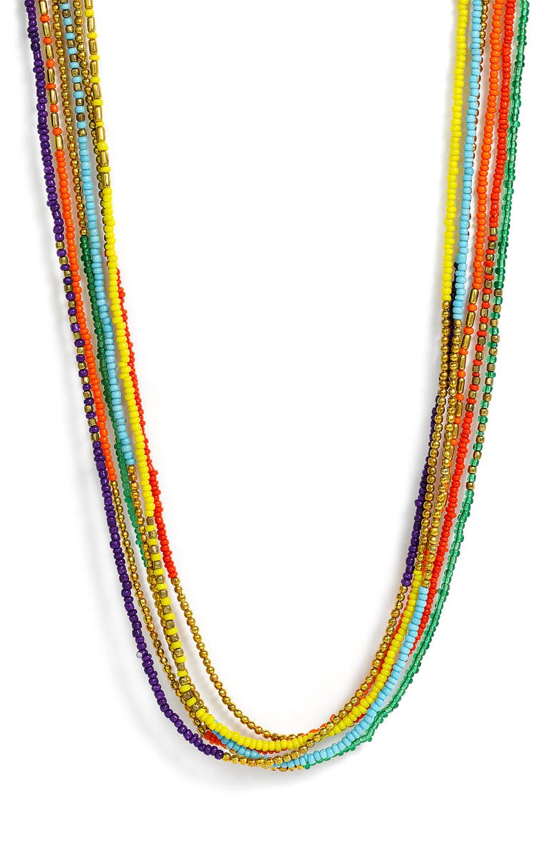 STEPHAN & CO. Multistrand Seed Bead Necklace, Main, color, 600