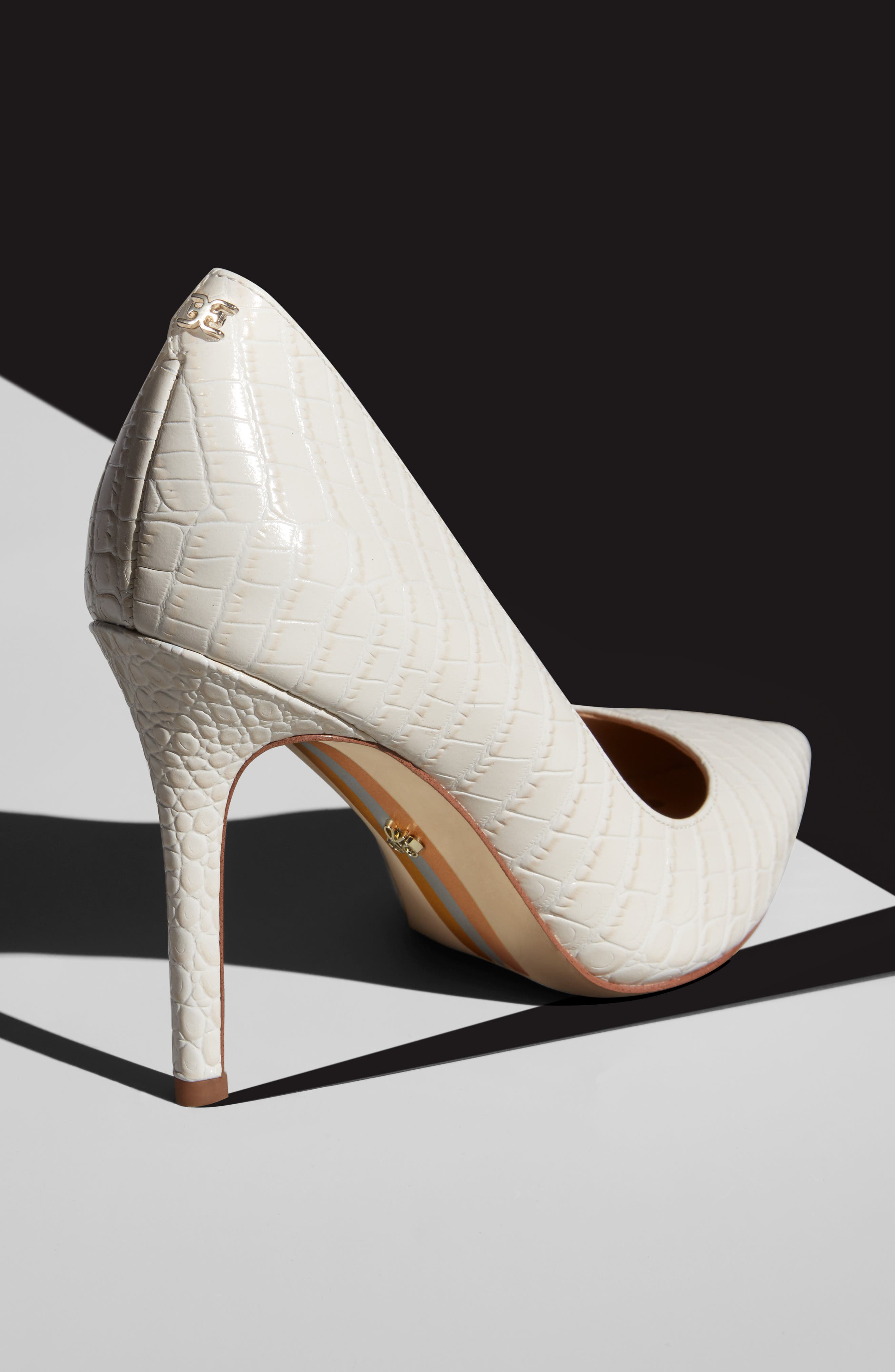 ,                             Hazel Pointy Toe Pump,                             Alternate thumbnail 13, color,                             MODERN IVORY LEATHER