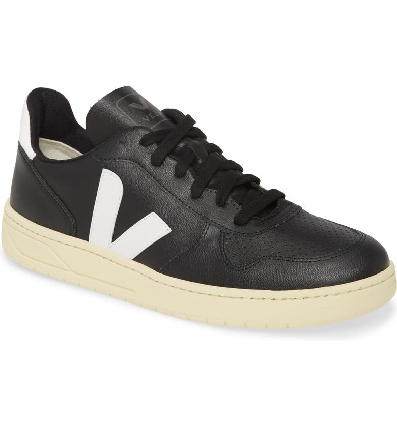 VEJA V-10 Sneaker, Main, color, BLACK/ WHITE/ BUTTER SOLE