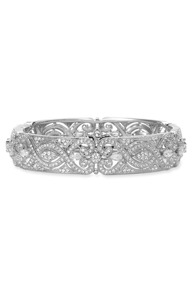 NADRI Crystal Scroll Bangle, Main, color, 040
