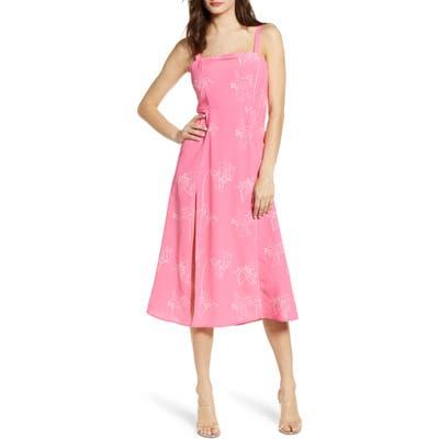 4Si3Nna Flower Sketch Sundress, Pink