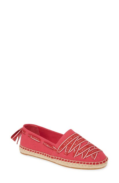 Tory Burch Shoes LOGO GROSGRAIN TRIM ESPADRILLE