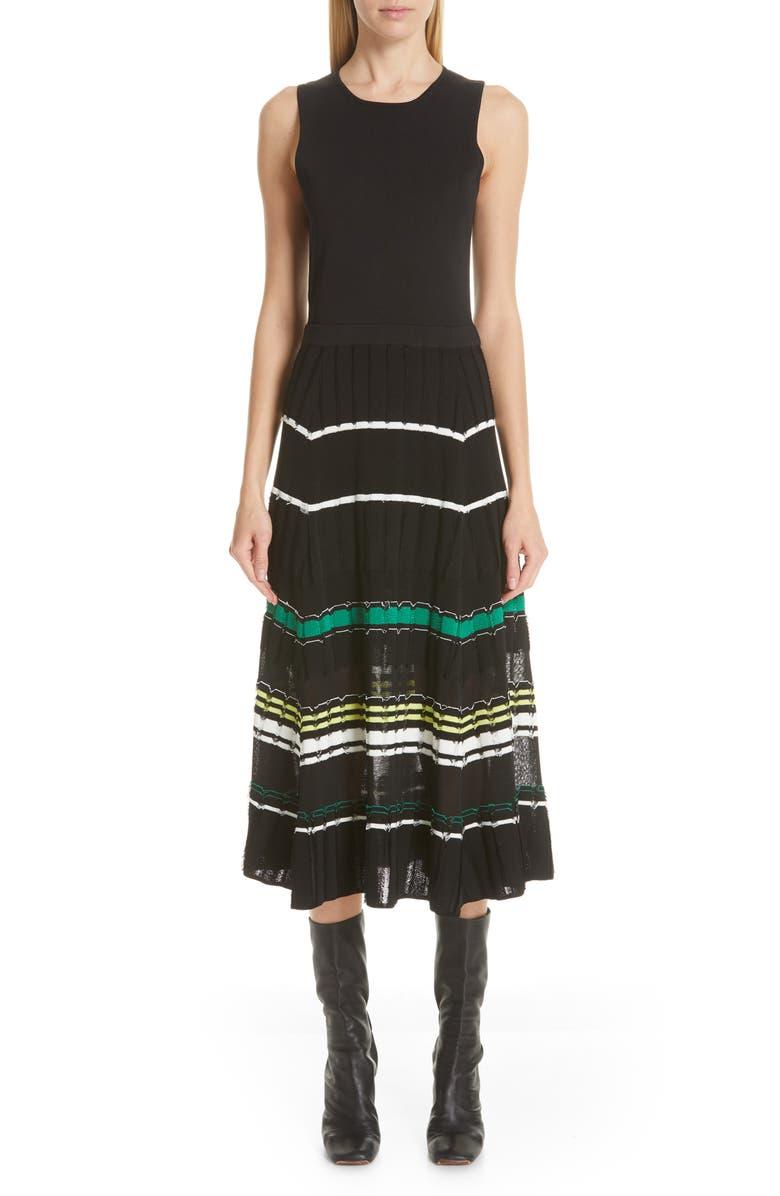PROENZA SCHOULER Stripe Knit Dress, Main, color, 003