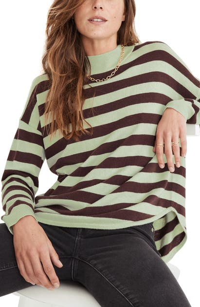 Madewell ASHBURY KELSEY STRIPE MOCK NECK SWEATER