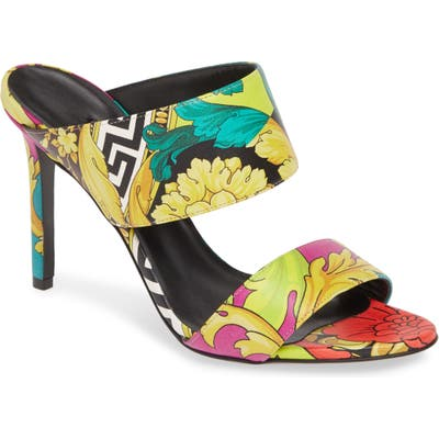 Versace Voyage Barocco Slip-On Sandal, Black