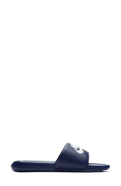 Nike Victori One Sport Slide In Midnight Navy/ White