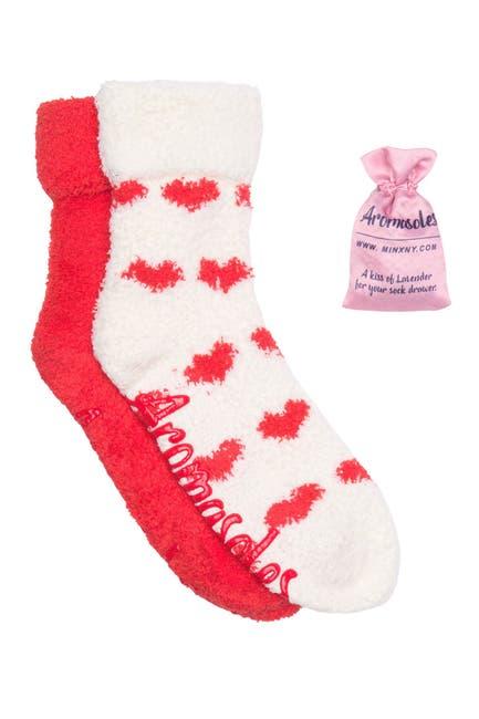 Image of Minx NY Fluffy Chenille Crew Socks - Pack of 2
