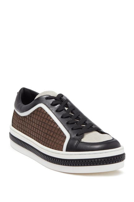 Image of Sergio Rossi Embossed Lace-Up Sneaker
