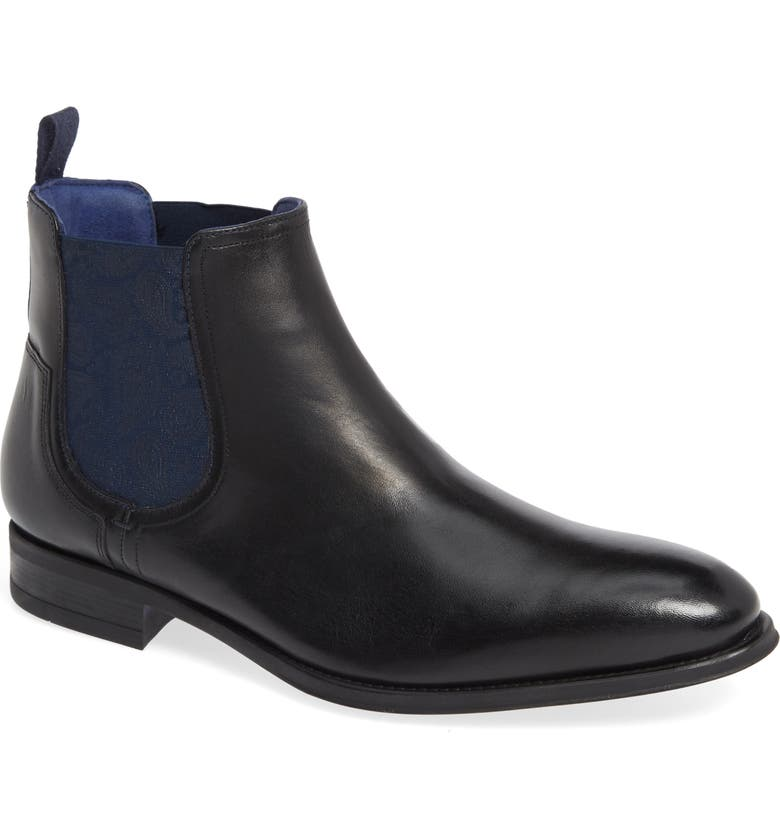 TED BAKER LONDON Travic Mid Chelsea Boot, Main, color, BLACK LEATHER