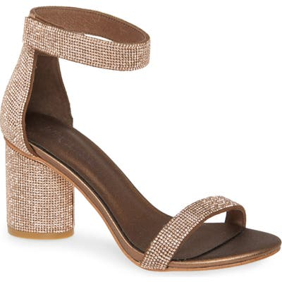 Jeffrey Campbell Laura Ankle Strap Sandal, Brown