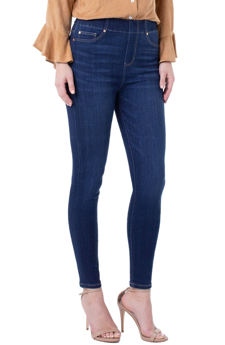 Liverpool Chloe High Waist Pull On Ankle Skinny Jeans Raleigh