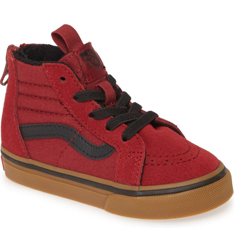 VANS 'Sk8-Hi' Sneaker, Main, color, BIKING RED/ GUM
