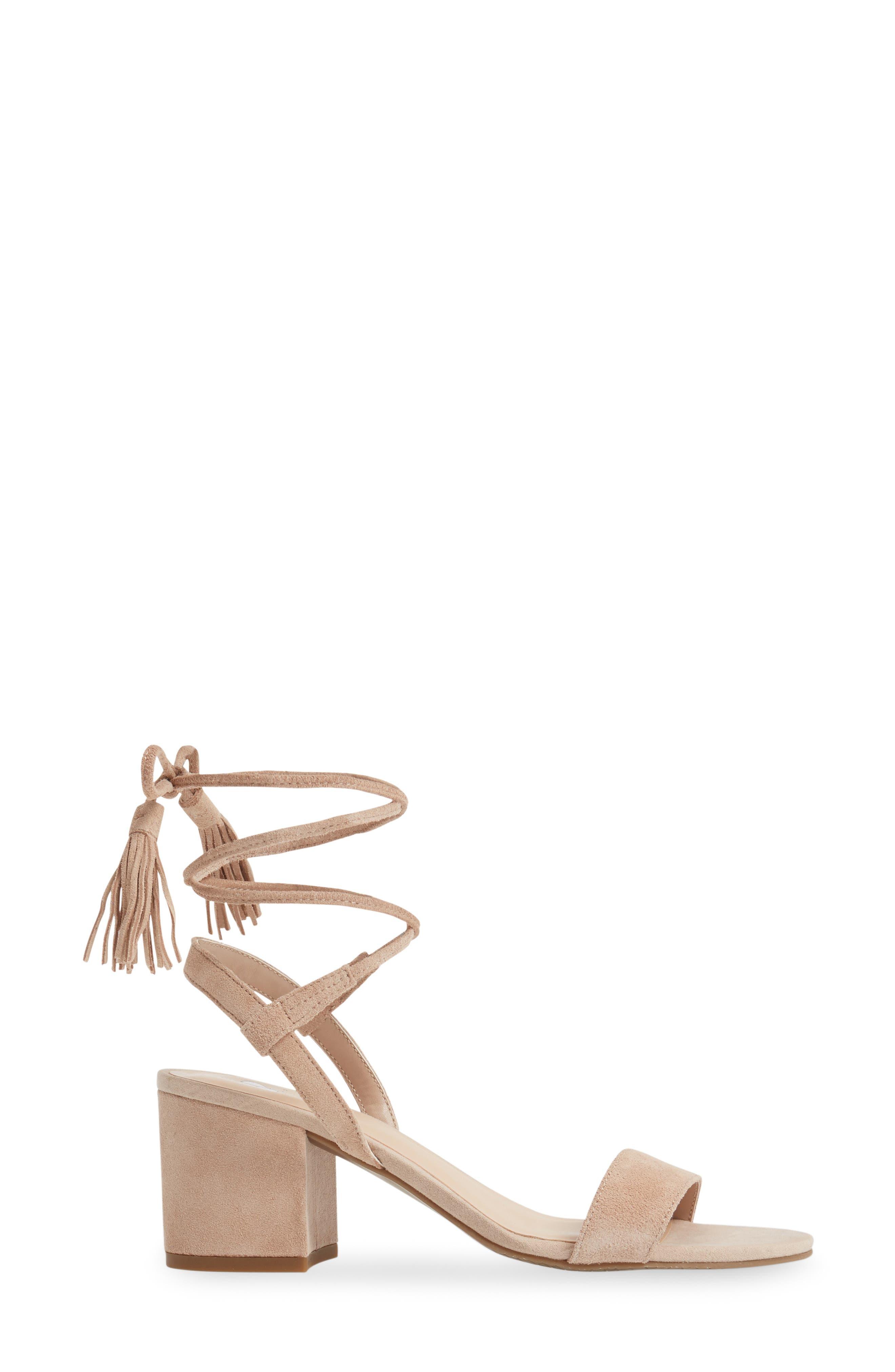 ,                             Karla Block Heel Ankle Wrap Sandal,                             Alternate thumbnail 13, color,                             651