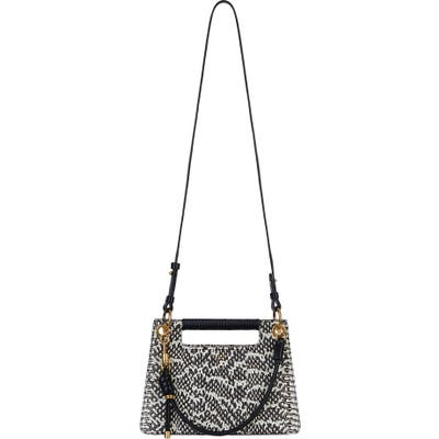 Givenchy Whip Small Snakeskin Print Leather Satchel - White