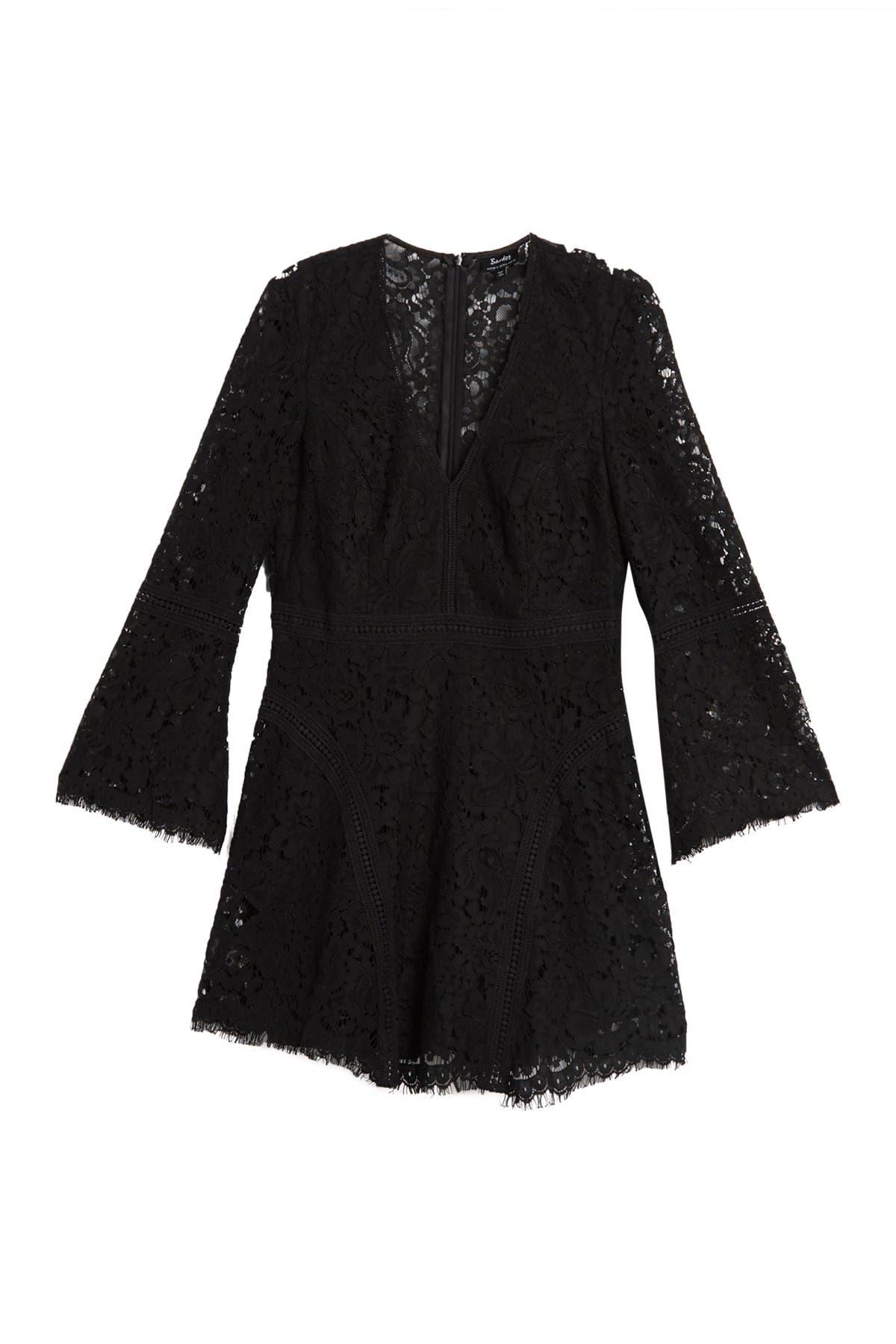 Image of Bardot Midnight Lace Mini Dress