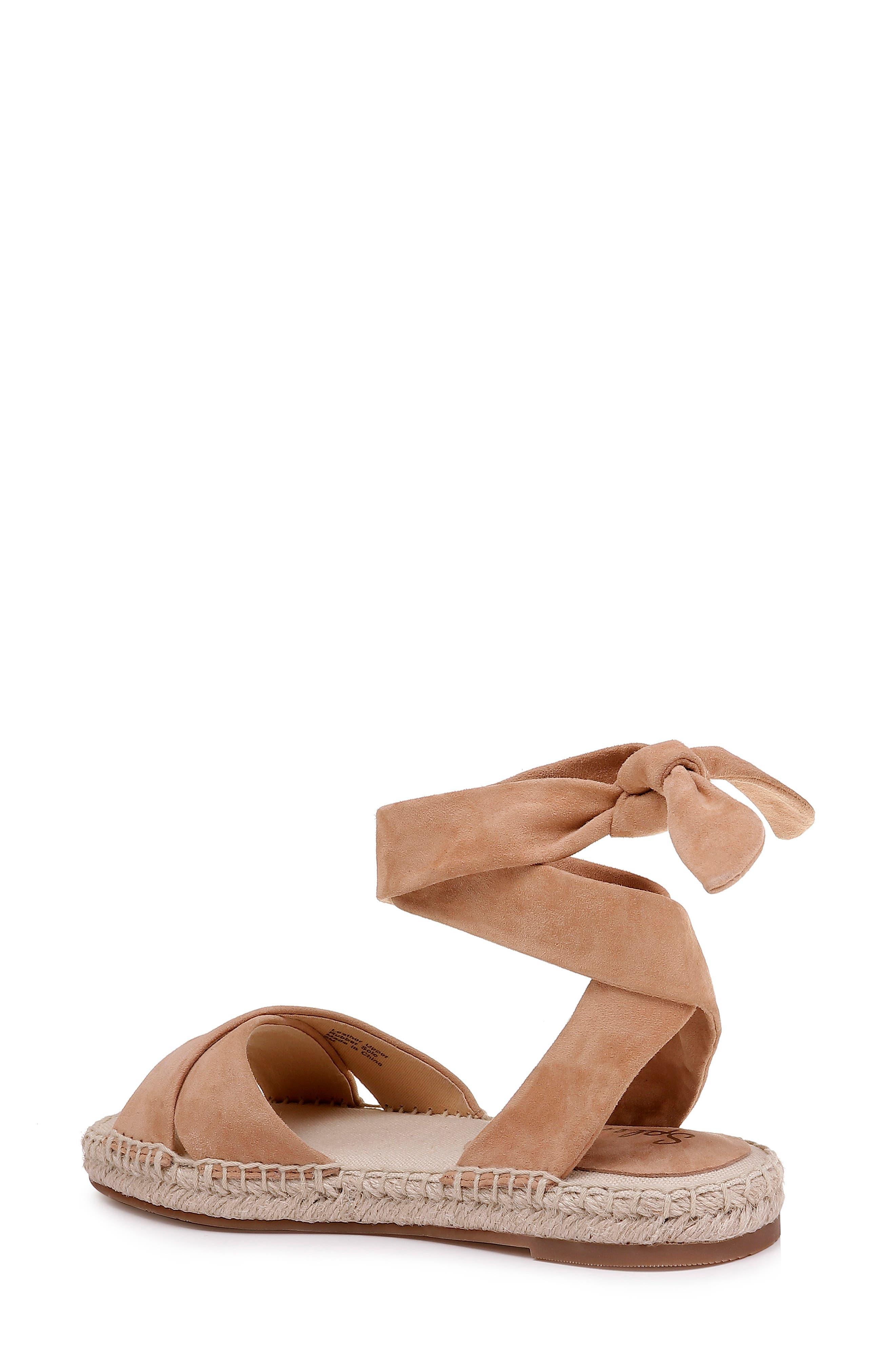 ,                             Tereza Ankle Wrap Sandal,                             Alternate thumbnail 2, color,                             TAN SUEDE