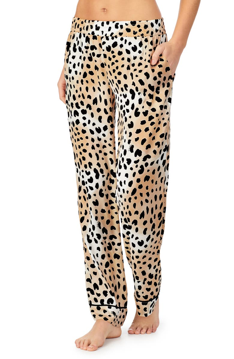 SHADY LADY Wide Leg Pajama Pants, Main, color, LEOPARD