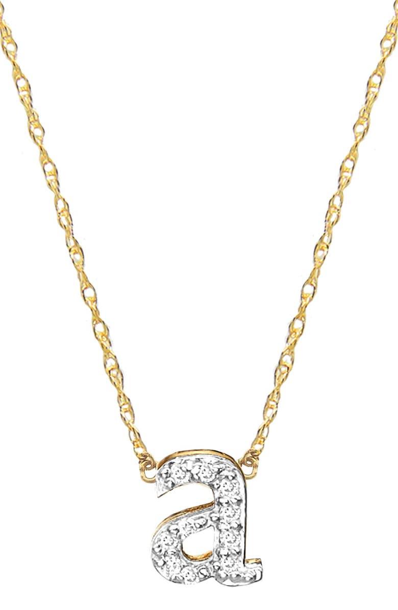 JANE BASCH DESIGNS Diamond Initial Pendant Necklace, Main, color, GOLD - A