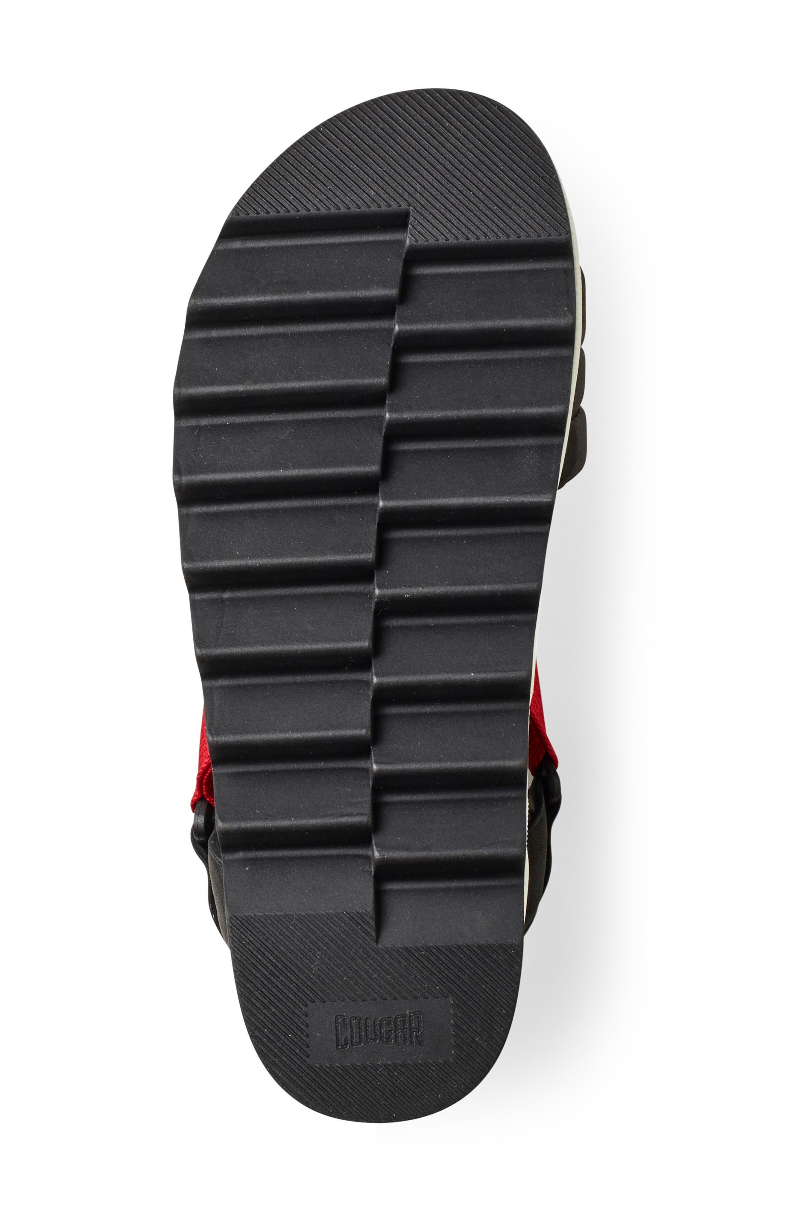 ,                             Pippy Platform Sandal,                             Alternate thumbnail 4, color,                             BLACK/ RED LEATHER