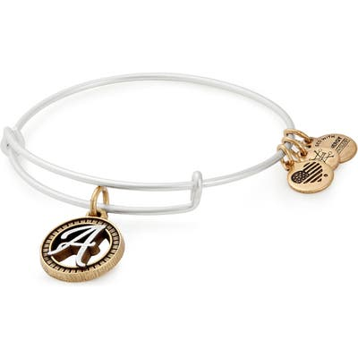 Alex And Ani Two-Tone Initial Charm Expandable Bracelet