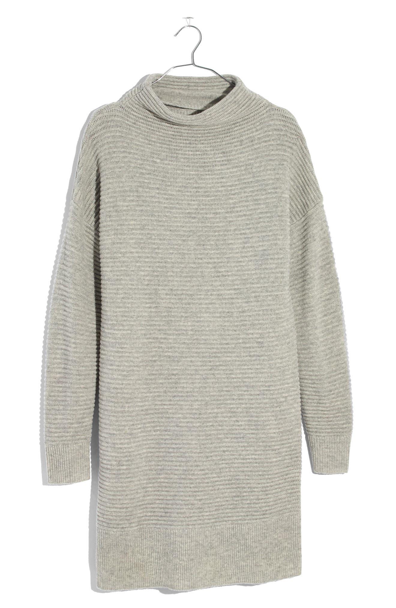 ,                             Skyscraper Merino Wool Sweater Dress,                             Alternate thumbnail 4, color,                             020