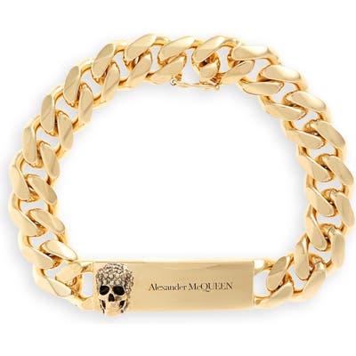 Alexander Mcqueen Skull Id Chain Bracelet