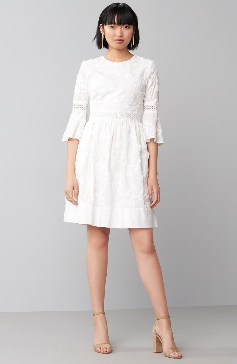 ELIZA J Fit & Flare Dress, Main, color, 100