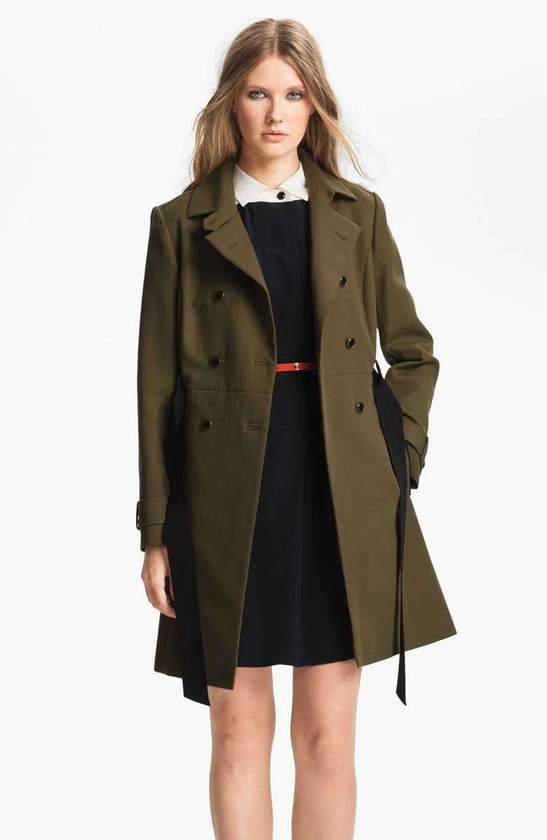MISS WU Belted Cotton Trench Coat, Main, color, 301