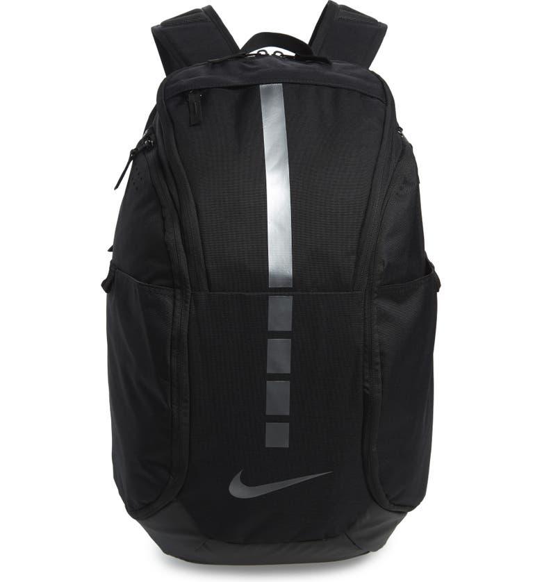 NIKE Hoops Elite Pro Backpack, Main, color, BLACK/ COOL GREY