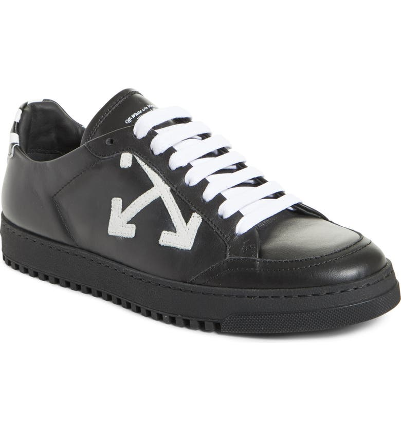 OFF-WHITE Arrow Sneaker, Main, color, BLACK WHITE