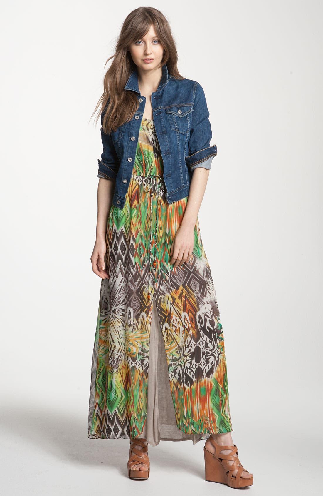 ,                             Print Maxi Dress,                             Alternate thumbnail 5, color,                             353
