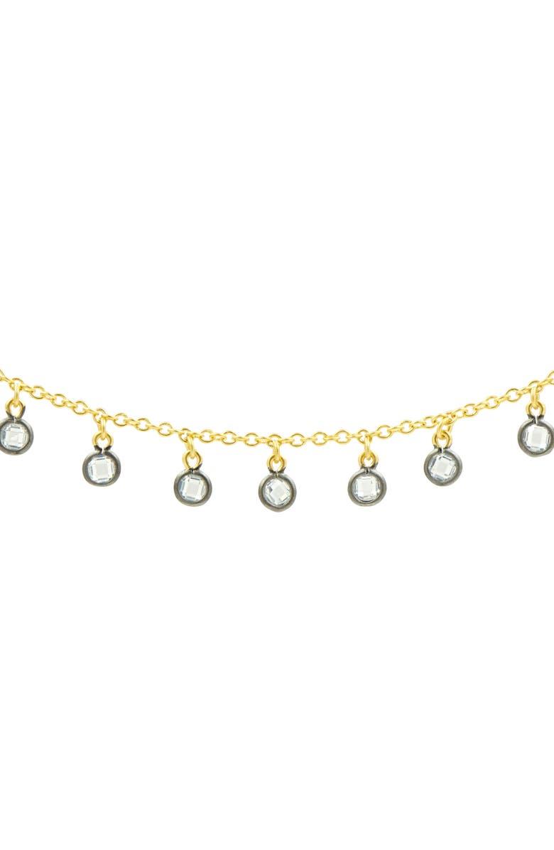 FREIDA ROTHMAN Signature Charm Choker Necklace, Main, color, GOLD/ BLACK