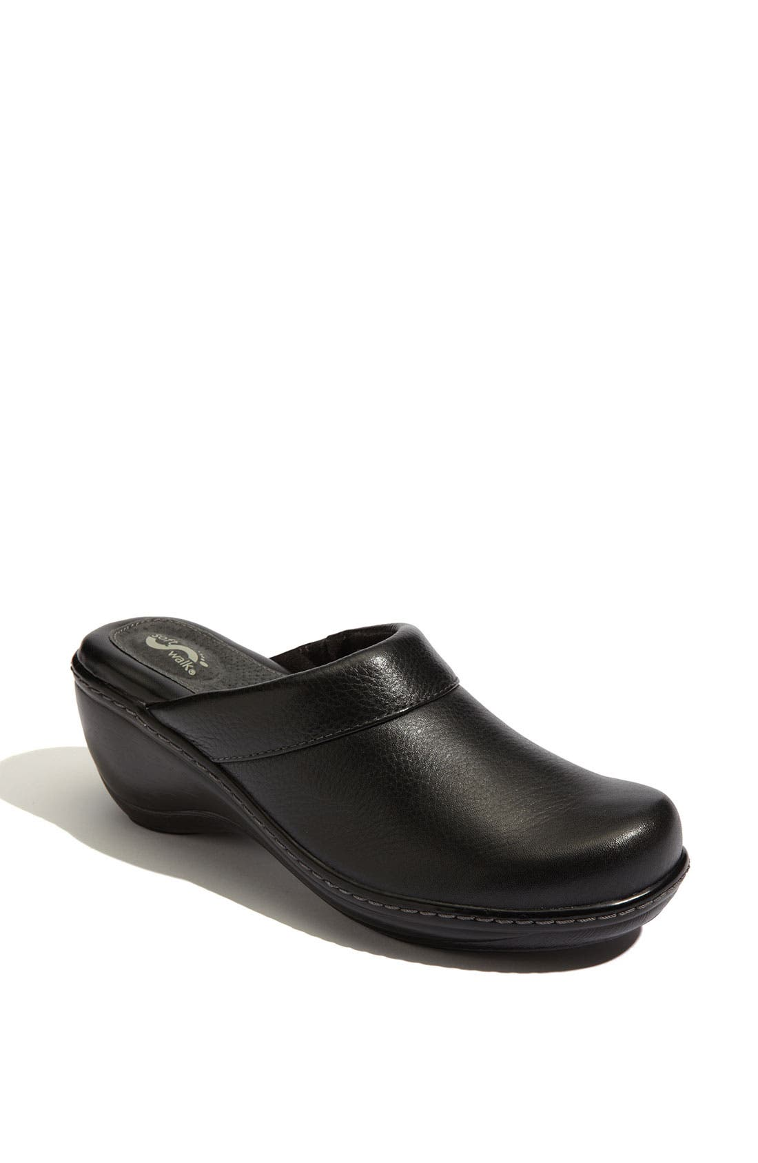 A soft leather clog features a patented eggcrate footbed and a supportive steel shank for ultimate comfort. Style Name: Softwalk \\\'Murietta\\\' Clog. Style Number: 55492 2. Available in stores.
