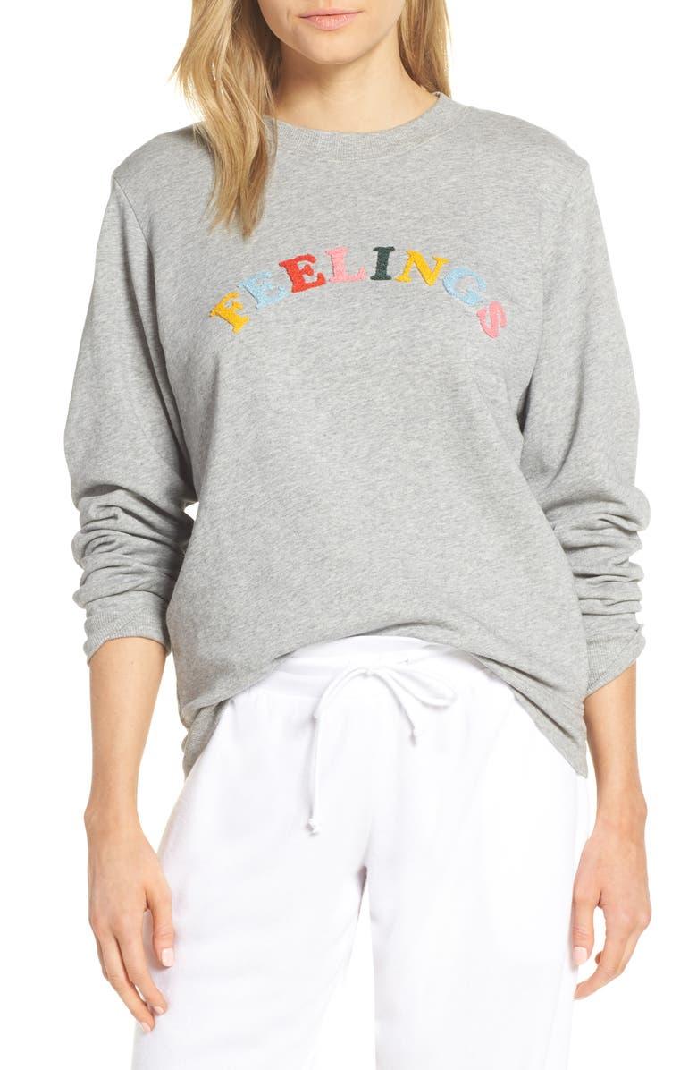BAN.DO Feelings Sweatshirt, Main, color, GREY